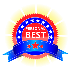 Personal Best badge - on Skoolbo a personal best is achieved every nine seconds