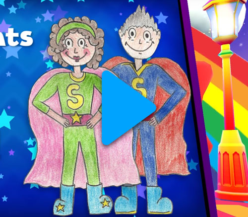 In Skoolbo, a child's Grandparents are superheroes! Motivate your grandchildren to learn!